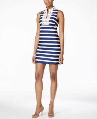 Jessica Howard Petite Sleeveless Striped Shift Dress