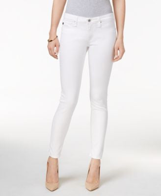 AG Super Skinny White Wash Jeans