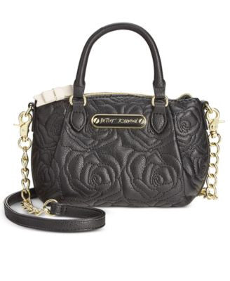 Betsey Johnson Quilted Rose Mini Crossbody