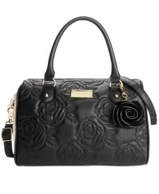 Betsey Johnson Quilted Rose Satchel