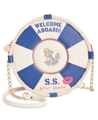 Betsey Johnson Welcome Aboard Crossbody