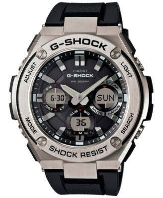 G-Shock Men's Analog-Digital Black Strap Watch 59x52mm GSTS110-1A