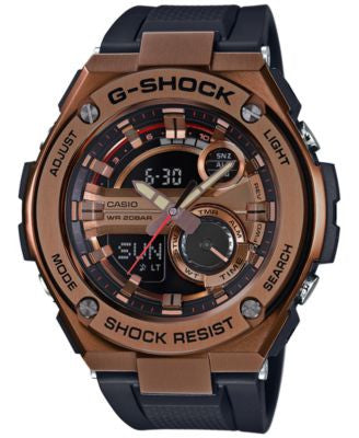 G-Shock Men's Analog-Digital Black Strap Watch 59x52mm GST210B-4A