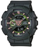 G-Shock Women's Analog-Digital S-Series Green Strap Watch 49x46mm GMAS110CM-3A