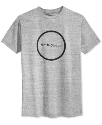 Ambig Men's Circle Graphic-Print Logo T-Shirt