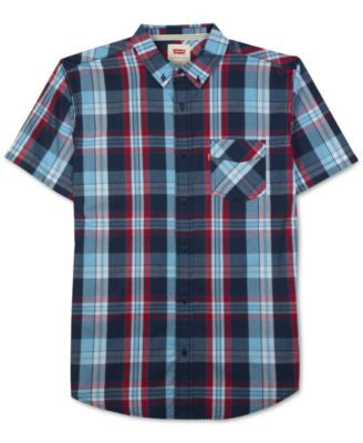 Levi's® Men's Tabbel Plaid Button-Down Short-Sleeve Shirt