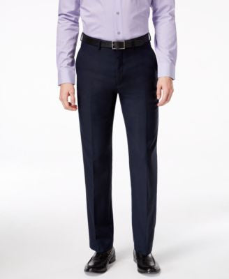 Ryan Seacrest Distinction Navy Solid Slim-Fit Pants