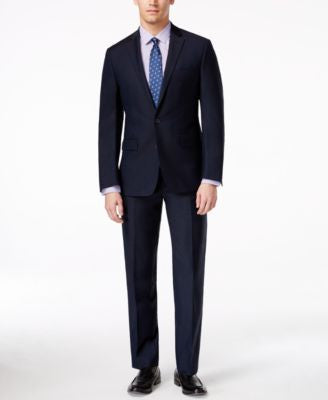 Ryan Seacrest Distinction Men's Slim-Fit New Blue Solid Suit Separates, Only at Vogily
