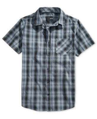 Hurley Men's Franco Plaid Short-Sleeve Shirt