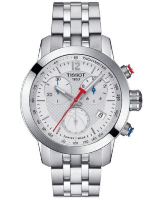 Tissot Women's Swiss Chronograph NBA PRC 200 Stainless Steel Bracelet Watch 35mm T0552171101700