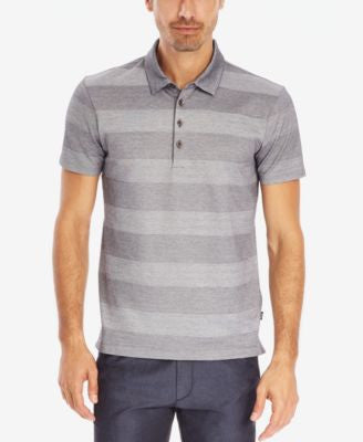 BOSS Mercerized Striped Cotton Polo Shirt