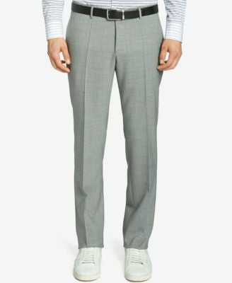 BOSS Slim-Fit Italian Virgin Wool Dress Pants