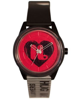 Harajuku Lovers Unisex Hearts Designed by Gwen Stefani Black and White Printed Strap Watch 40mm HL26