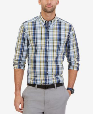 Nautica Men's Marina Plaid Shirt