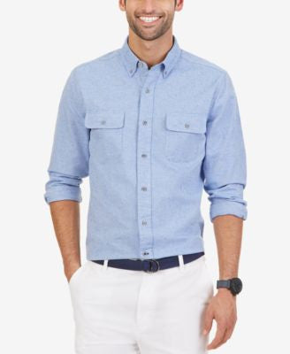 Nautica Men's Slim Fit Double Pocket Oxford Shirt