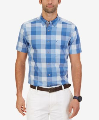 Nautica Men's Big & Tall Buffalo Plaid Short-Sleeve Shirt