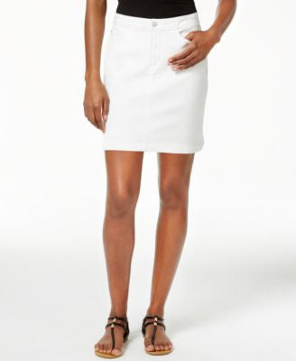 NYDJ Emily White Wash Denim Skirt
