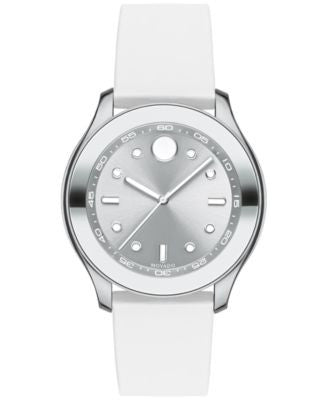 Movado Women's Swiss Bold Active White Silicone Strap Watch with Interchangeable Strap 38mm 3600391