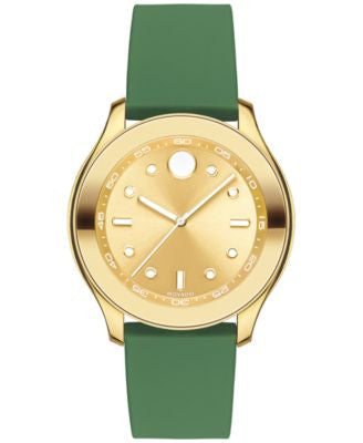 Movado Women's Swiss Bold Active Green Silicone Strap Watch with Interchangeable Strap 38mm 3600389