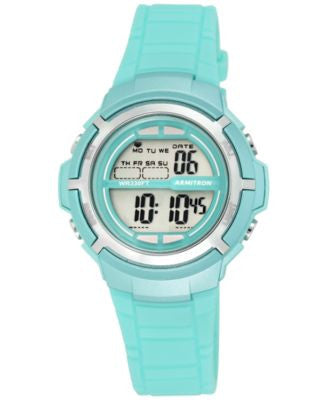 Armitron Women's Digital Teal Strap Watch 38mm 45-7045TLGD