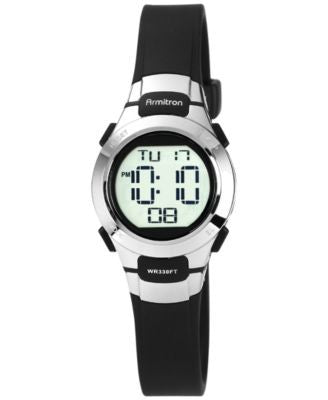 Armitron Women's Digital Black Strap Watch 27mm 45-7012BLK