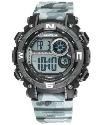 Armitron Men's Digital Chronograph Black and Gray Camouflage Strap Watch 54mm 40-8284CMGY