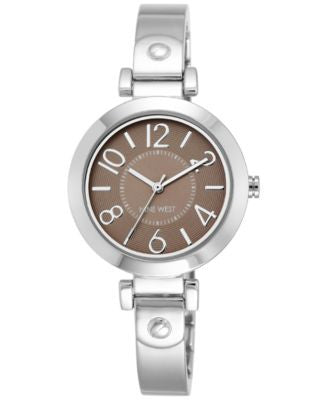 Nine West Women's Stainless Steel Bangle Bracelet Watch 32mm NW/1889BNSB