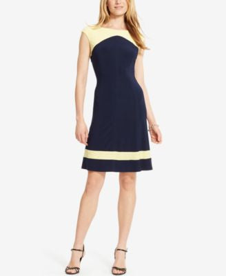American Living Colorblocked Jersey Dress