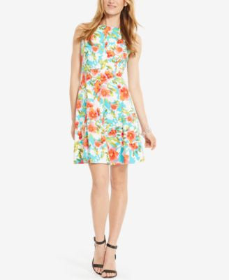 American Living Floral-Print Sateen Dress