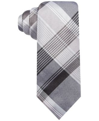Ryan Seacrest Distinction Men's Palm Plaid Slim Tie