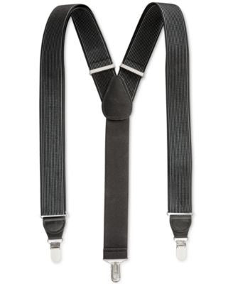 Club Room Men's Solid Suspenders, Only at Vogily