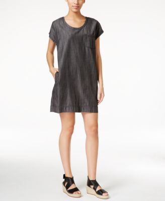 Eileen Fisher Short-Sleeve Shift Dress