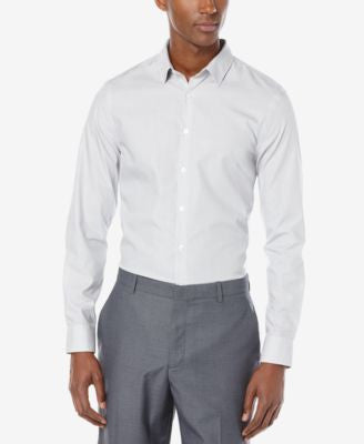 Perry Ellis Men's Wide Gray Stripe Shirt