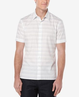 Perry Ellis Men's Horizontal-Stripe Short-Sleeve Shirt