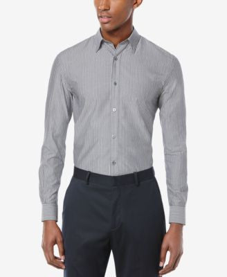 Perry Ellis Men's Wide Stripe Long-Sleeve Shirt