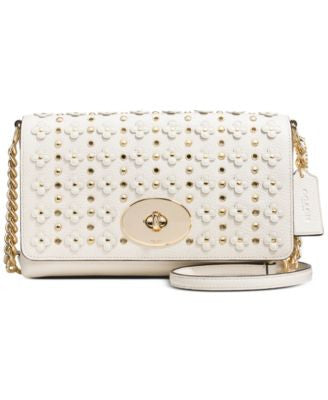 COACH CROSSTOWN CROSSBODY IN FLORAL RIVETS LEATHER