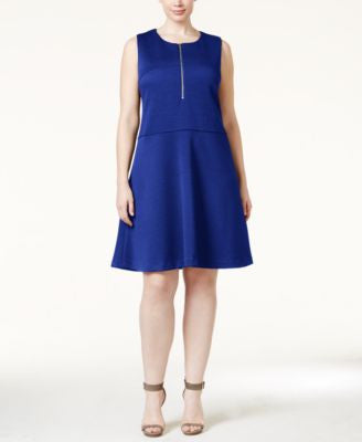 Calvin Klein Plus Size A-Line Piqué Dress