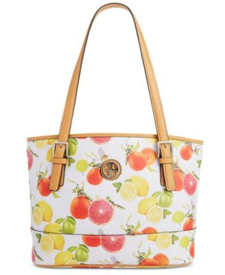 Giani Bernini Saffiano Fruit Tulip Medium Tote, Only at Vogily
