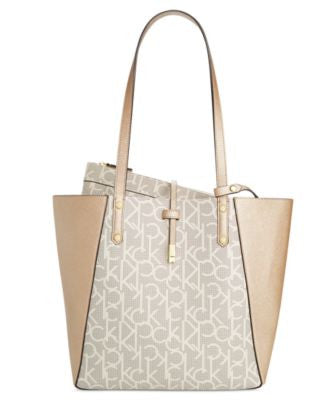 Calvin Klein Bag-in-Bag Monogram Colorblock Medium Tote