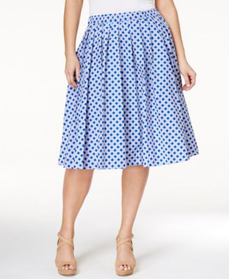 MICHAEL Michael Kors Plus Size Printed Pleated Skirt