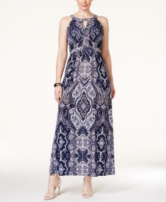 INC International Concepts Plus Size Paisley-Print Maxi Dress, Only at Vogily