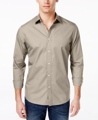 Michael Kors Men's Tailored Poplin Long-Sleeve Shirt