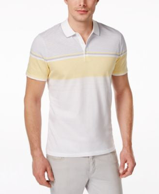 Alfani Men's Monroe Striped-Chest Polo, Only at Vogily