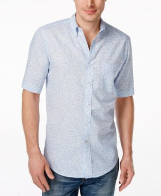 Club Room Men's Floral-Print Short-Sleeve Shirt, Only at Vogily