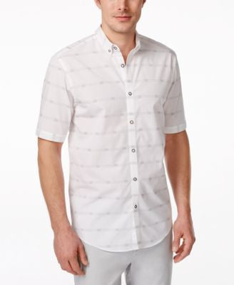 Alfani Men's Palma Striped Short-Sleeve Shirt, Only at Vogily