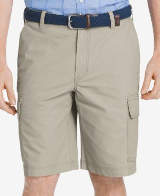 IZOD Men's Big and Tall Lightweight Poplin Cargo Shorts