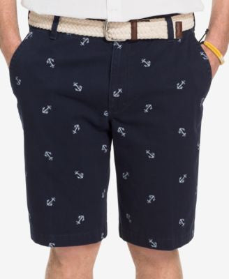 IZOD Men's Big and Tall Anchor-Print Shorts