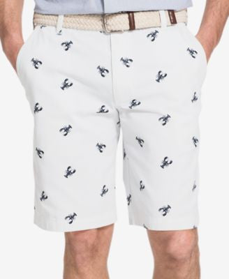 IZOD Men's Big and Tall Lobster-Print Shorts