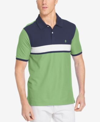 IZOD Men's Colorblocked Pique Polo