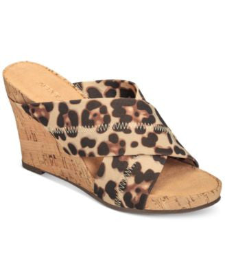 Aerosoles Party Plush Platform Wedge Sandals